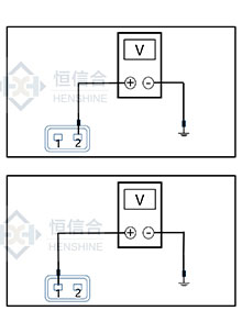 Check the power circuit of the flow metering valve